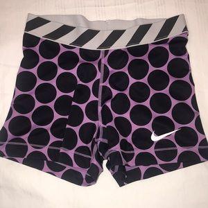Nike Pro women's workout shorts.
